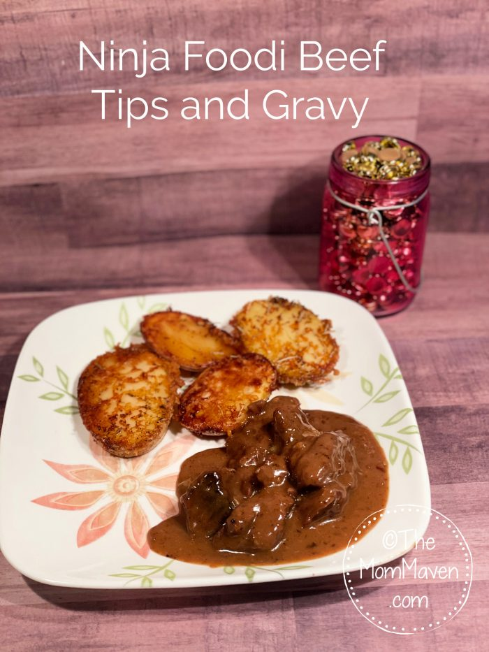 This Ninja Foodi Beef Tips and Gravy recipe has become an instant favorite in our house. It's delicious, versatile, and pretty easy to make.