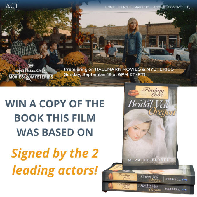 To celebrate the premiere of FINDING LOVE IN MOUNTAIN VIEW, premiering Sunday Sept 19that 6pm PT/9pm ET, we are giving away a copy of the book the film was based on signed by the lead actors!